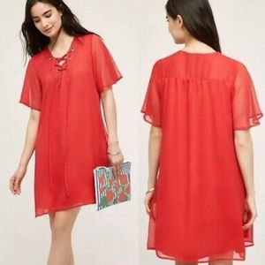11.1.TYLHO Red short dress XS Babydoll Shift